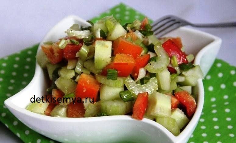 Сельдерей в овощной салат