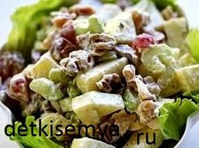Салаты для похудения с сельдереем стеблевым рецепты