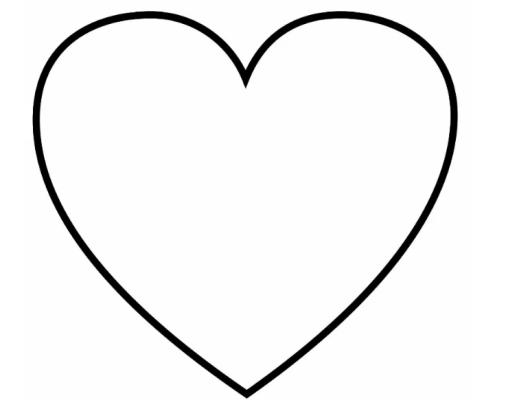 шаблон открытки с сердечками