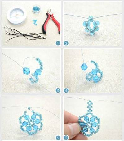 снежинки из бисера со схемами для начинающих пошагово схемы фото