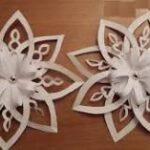 объемные снежинки из бумаги своими руками на новый год пошаговая инструкция