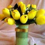 цветы тюльпаны из гофрированной бумаги
