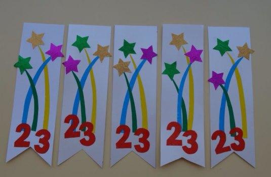 открытки к 23 детскими руками