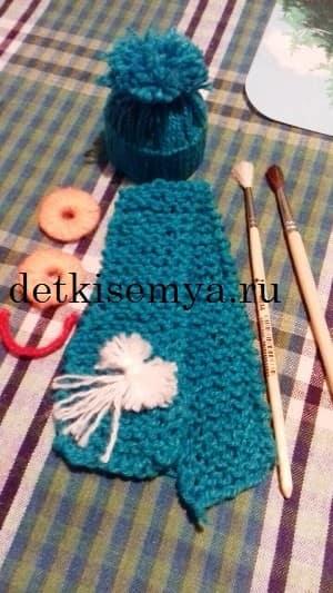 шапочка для снеговика из ниток своими руками