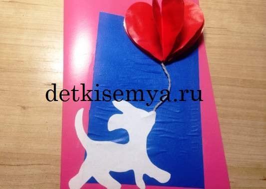 как сделать открытку из бумаги для мамы