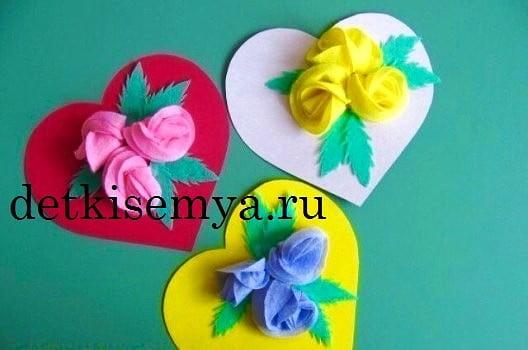 подарок из цветов на 8 марта