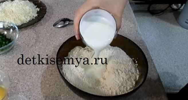 сырная лепешка с творогом на сковороде