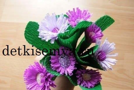 корзина цветов из бумаги своими руками