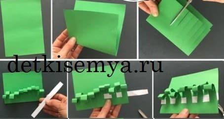 пасхальная корзина из бумаги