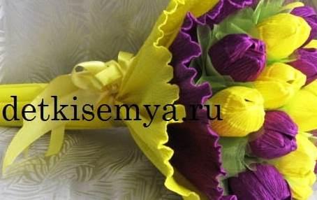 цветы на день матери своими руками