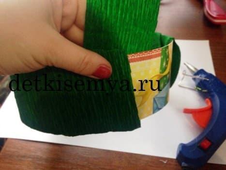 подставки для больших цветов из гофрированной бумаги