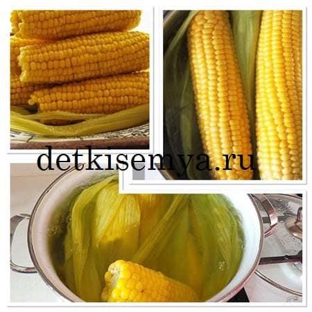 как варить кукурузу в кастрюле с солью без початка