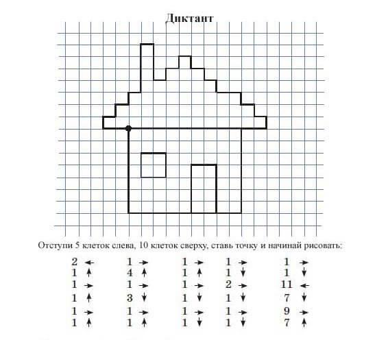шаблон для графического диктанта 3 класса