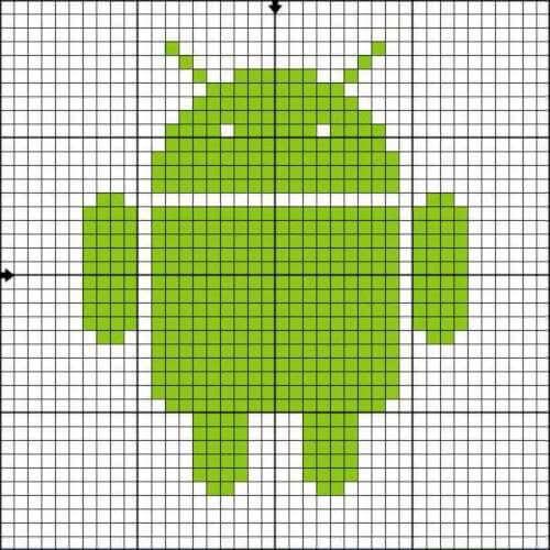 как нарисовать символ андроид