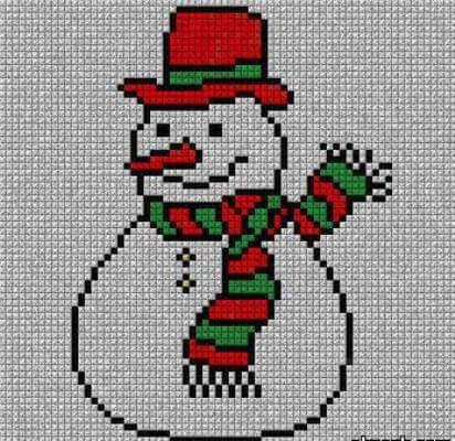 снеговик для черчения