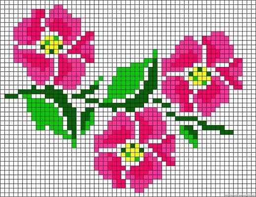 красивые цветы для вышивания
