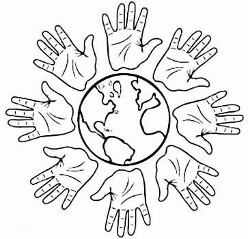 флаг дня защиты детей раскраска