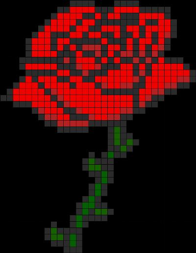 роза для вышивания схема