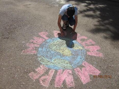 день защиты детей рисунки на асфальте сценарий