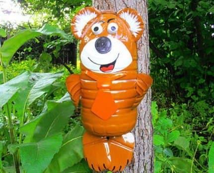 медвежонок из бутылок