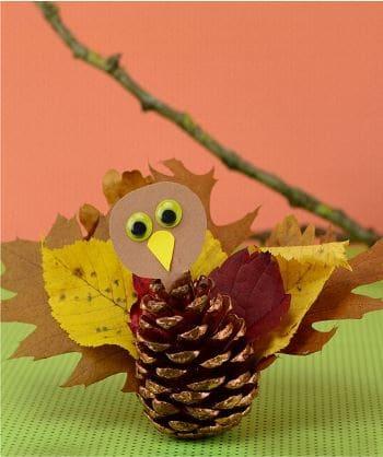 как сделать поделку из шишек еловых на тему осень