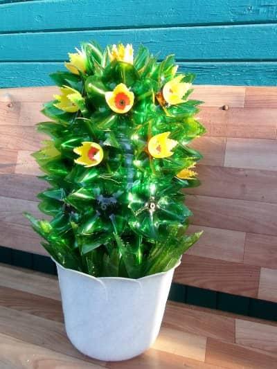 цветы из пластиковых бутылок пошаговая инструкция