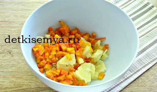 салат с морковкой на новый год
