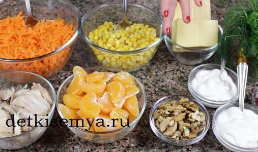 ингредиенты на салат хрюшка