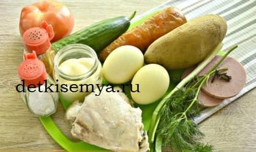рецепт легкого салата на новый год
