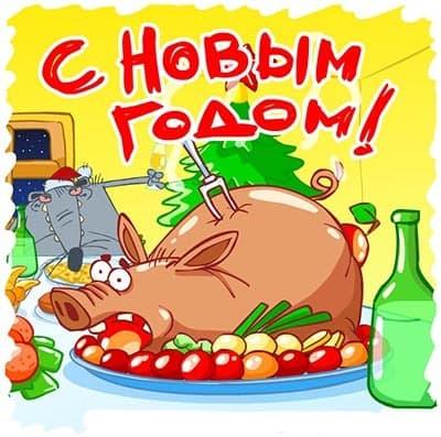 ржачные картинки на новый год свиньи