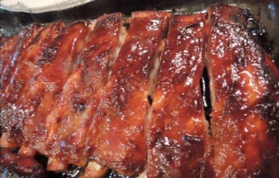 ребра свиные в духовке с медом