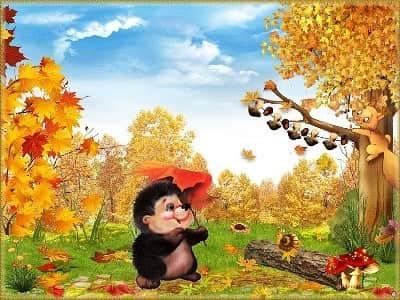 стихи про осень для детского сада на утренник