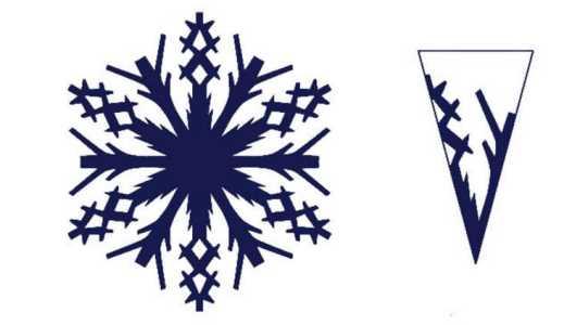 острая снежинка из бумаги