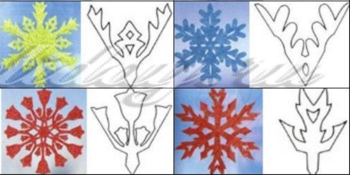 трафареты на окна снежинки готовые