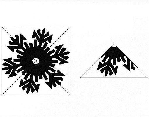 трафареты на окна снежинки для вырезания