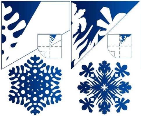 сложная снежинка из бумаги