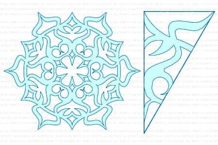 трафареты на окна снежинки для вырезания формата а4