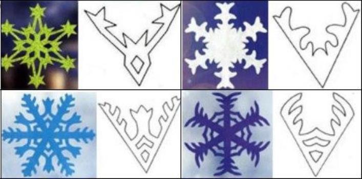 трафареты на окна снежинки готовые шаблоны распечатать