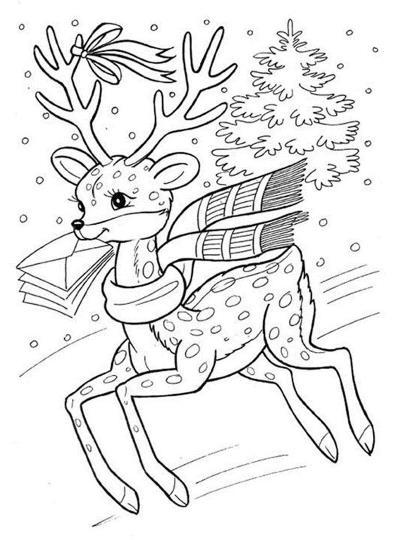 рисунок на новый год раскраска