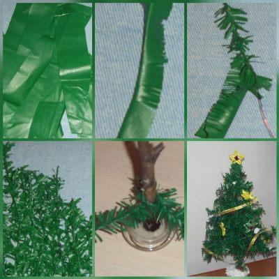 большая елка своими руками на новый год