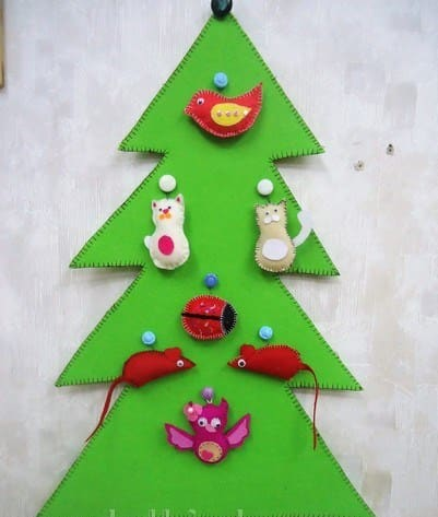 сделать елку на новый год своими руками