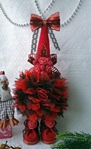 елка своими руками на новый год трафареты