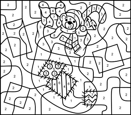 рисунки по номерам для детей