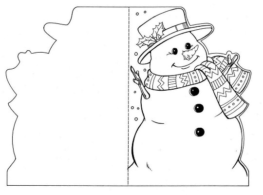 трафарет снеговика на окно скачать бесплатно