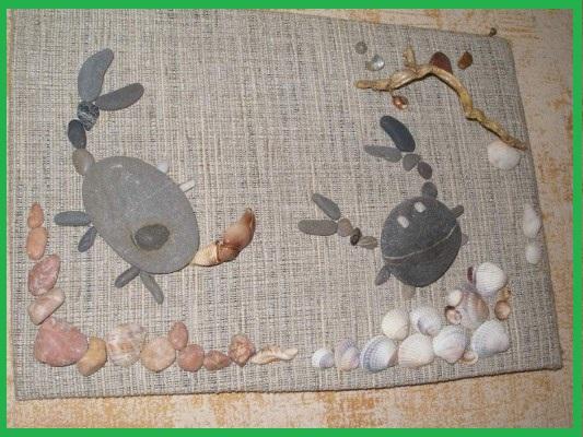 Поделки из морских камней и ракушек своими руками (30 идей)